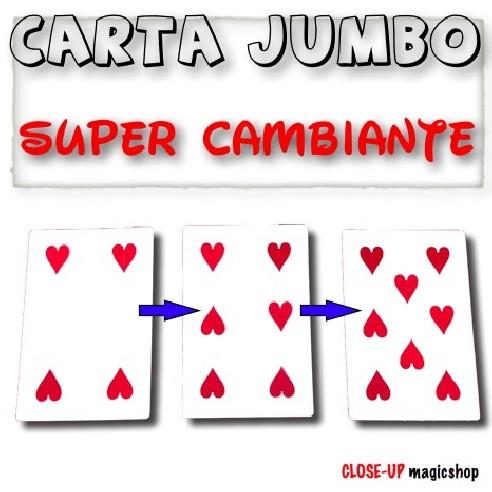 CARTA JUMBO SUPER CAMBIANTE (CORAZONES)